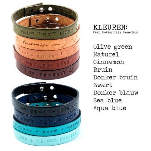 Tekst armband leer (9 verschillende kleuren leer) Tekst armband leer armband met tekst van leer leren armbandjes met tekst datum naam quote