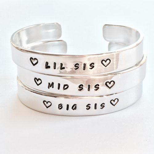 Setje: Big sis & Lil sis armbanden (zilver, goud of roségoud)-9029