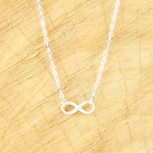 Ketting infinity symbool zilver