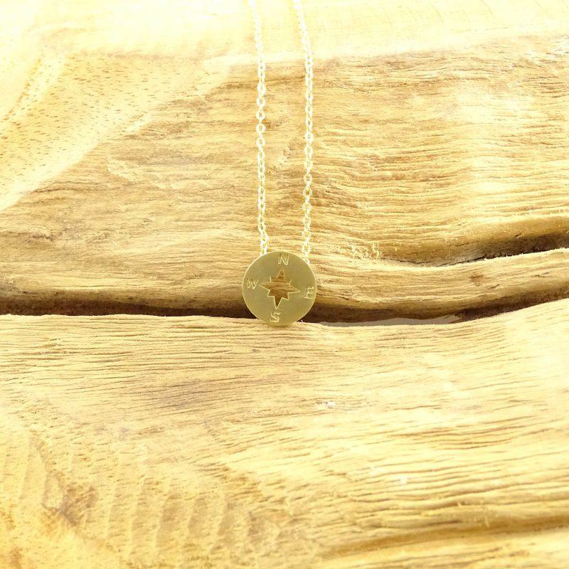 Kompas ketting goud-8944