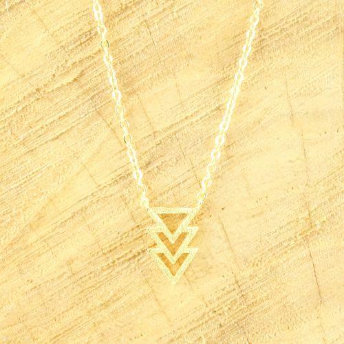 Minimalistische ketting driehoekje goud