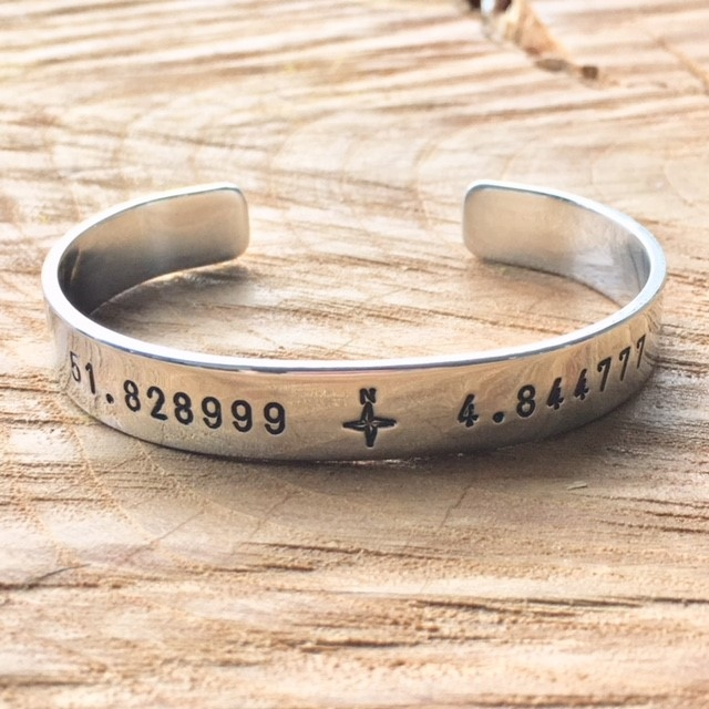Armband coördinaten (zilver, goud of roségoud)-9519