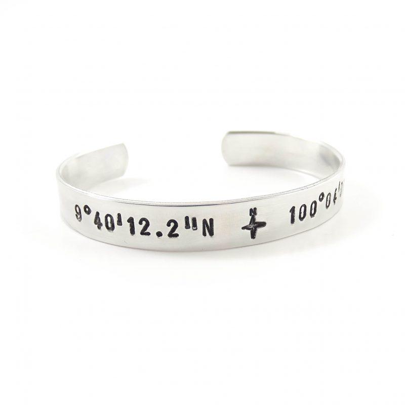 Armband coördinaten (zilver, goud of roségoud)-8219