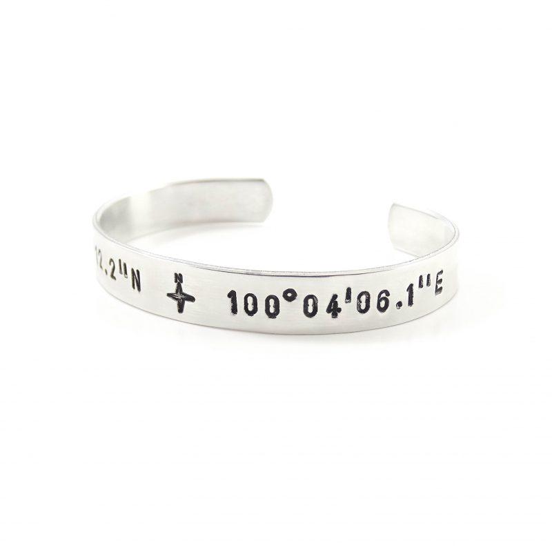 Armband coördinaten (zilver, goud of roségoud)-0