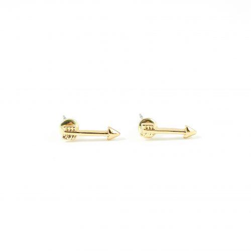 Arrow pijl oorbellen goud