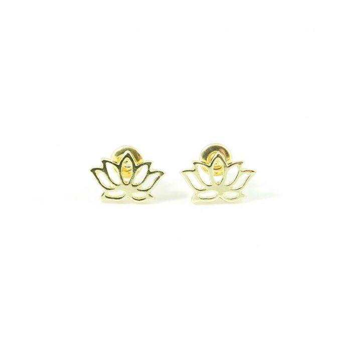 Oorbellen met lotus goud