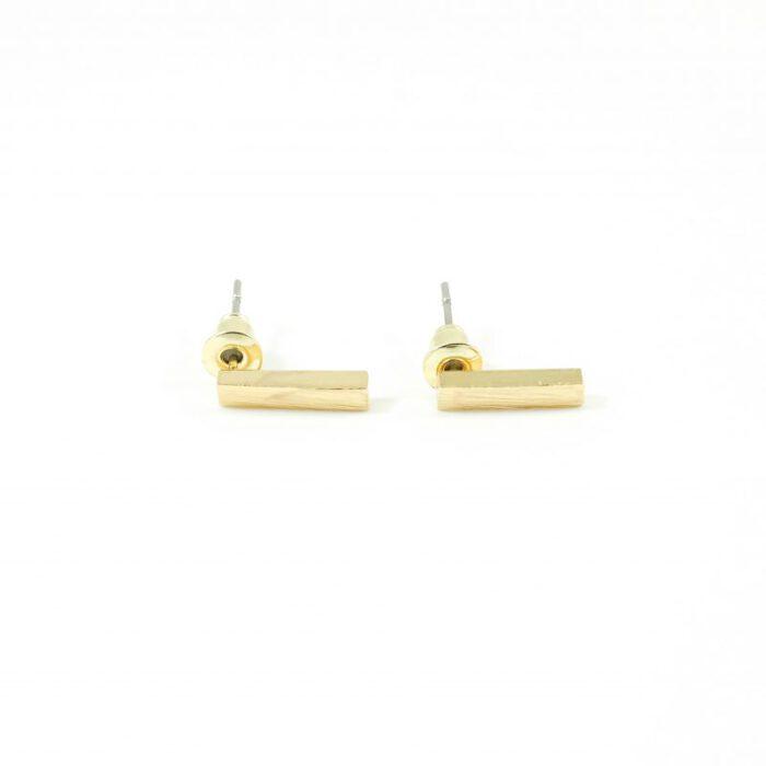 Minimalistische oorbellen goud