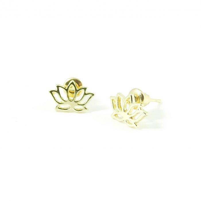 Lotus oorbellen goud-8117