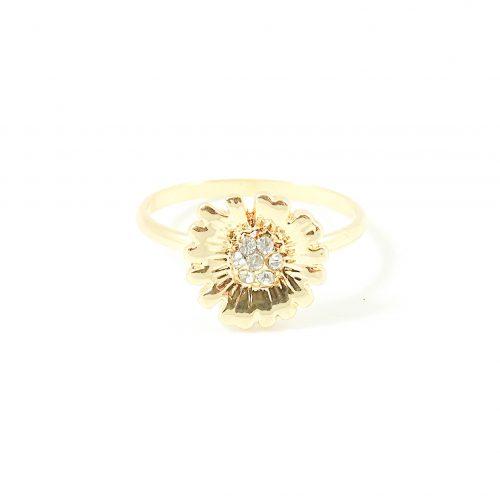 Ring met madeliefje goud
