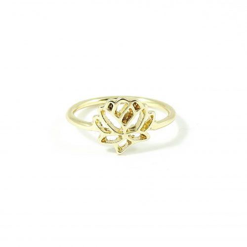 Ring met lotus goud