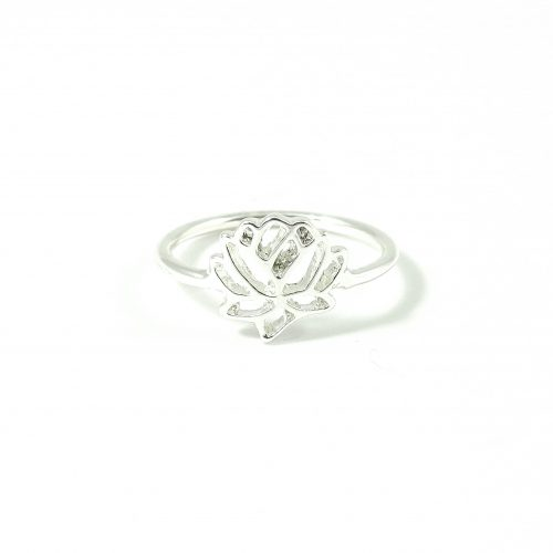 Ring met lotus zilver