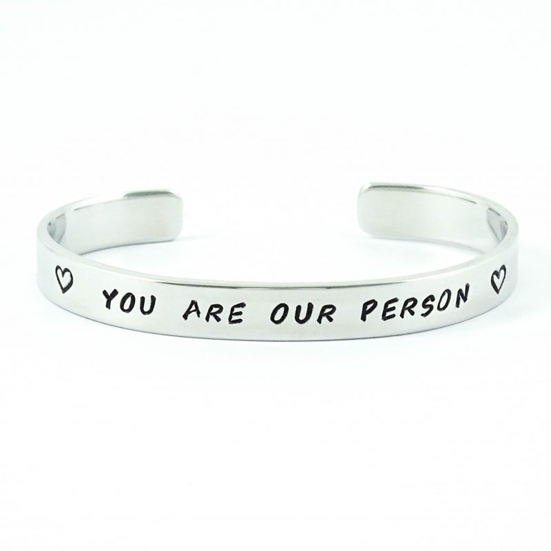 Armband met tekst you are our person