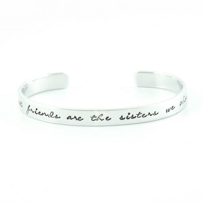 armband met tekst best friends are the sisters we choose