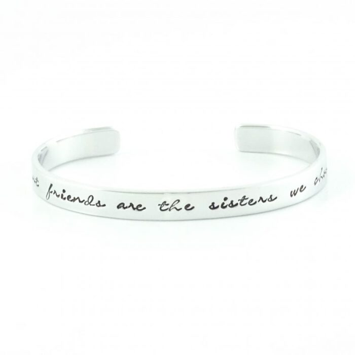 armband met tekst best friends are the sisters we choose