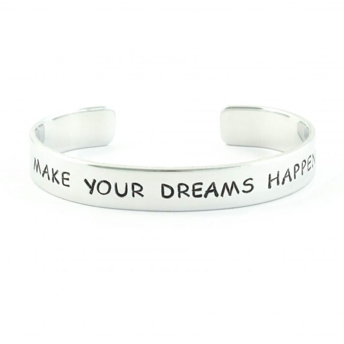 armband met tekst make your dreams happen