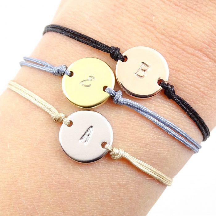 Mix & match initiaal armbandje zilver, goud of rosegoud plated-9646