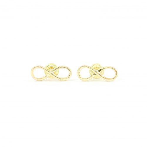 Infinity oorbellen goud