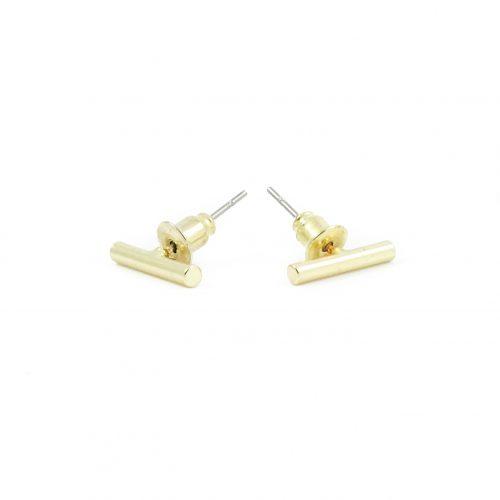 Minimal bar oorbellen goud