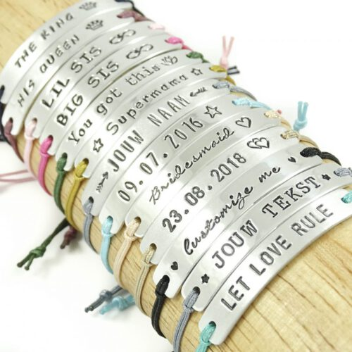Armbandje met tekst