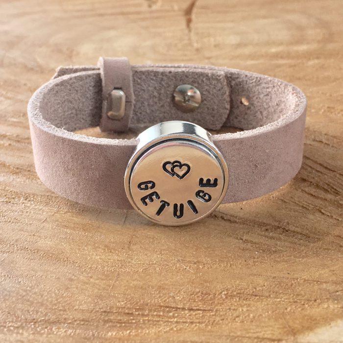 Leren armband met naam - datum - symbool sliders (verschillende lettertypen & kleuren leer)-9025