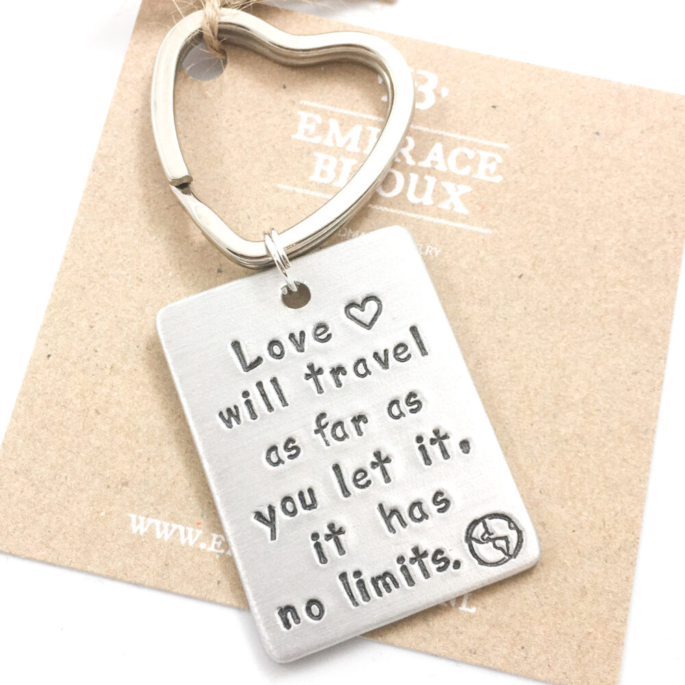 Sleutelhanger met tekst quote spreuk liefde love travel