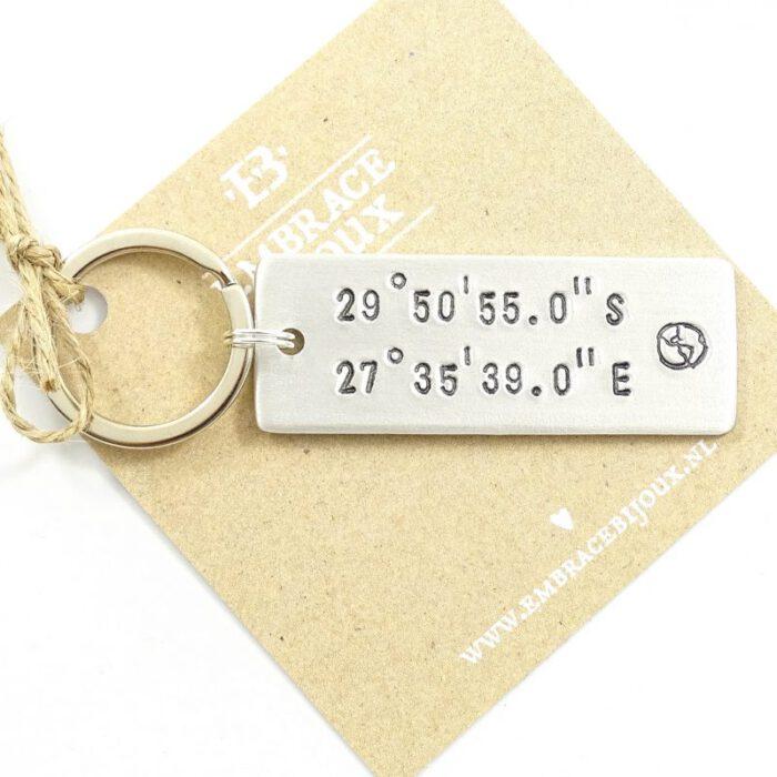 Sleutelhanger met coordinaten - rechthoek-9856