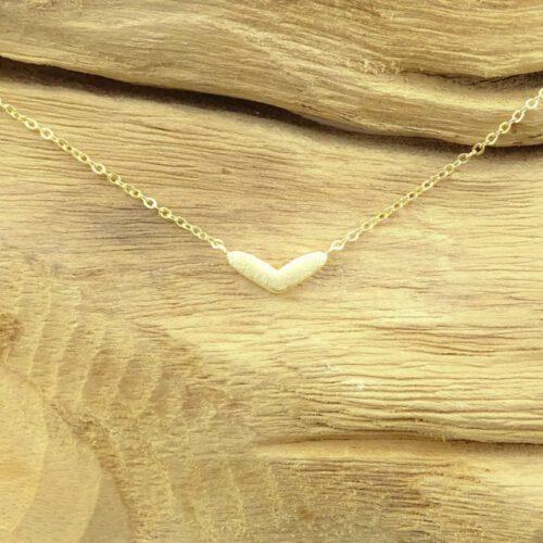 Ketting hartje goud-8833