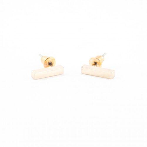 Minimal bar oorbellen rosegoud