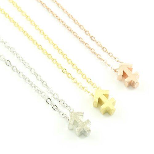 Ketting met sterrenbeeld boogschutter zilver goud rosegoud kettinkje horoscoop zodiac