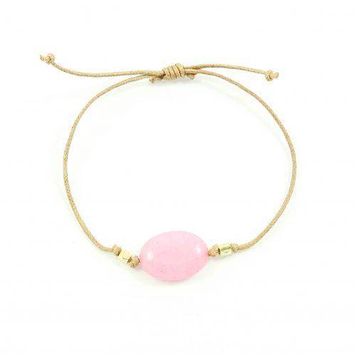 Armband met roze jade