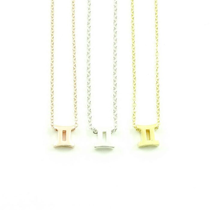 Ketting sterrenbeeld tweeling zilver, goud of roségoud-0
