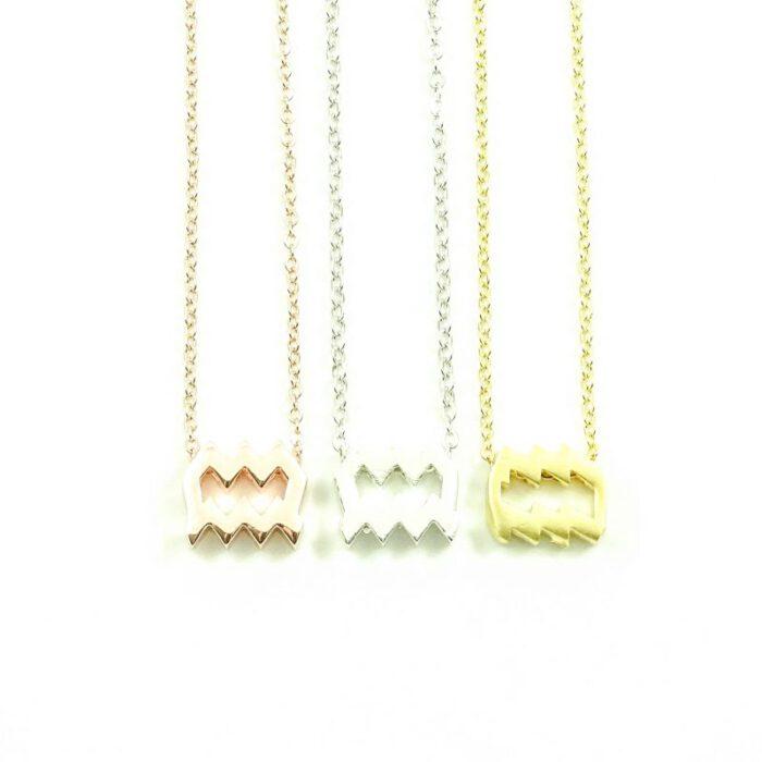 Ketting sterrenbeeld waterman zilver, goud of roségoud-0