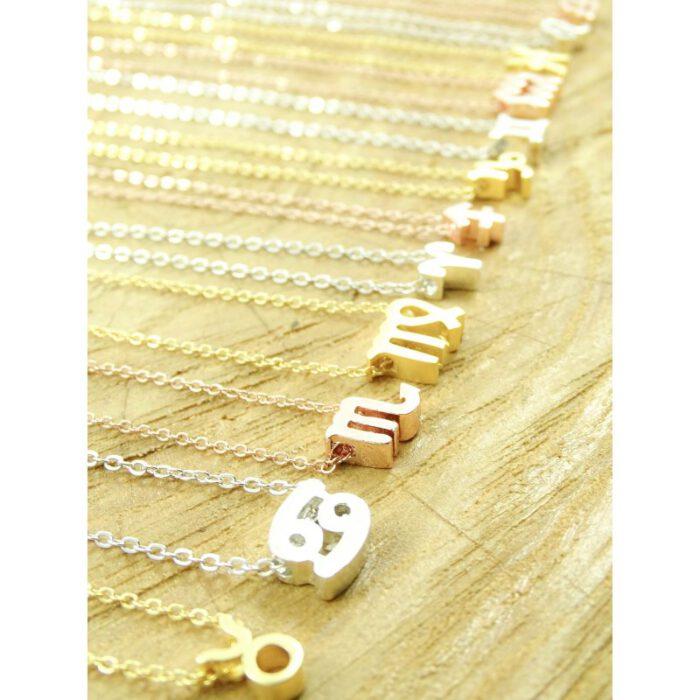 Ketting sterrenbeeld boogschutter zilver, goud of roségoud-9153