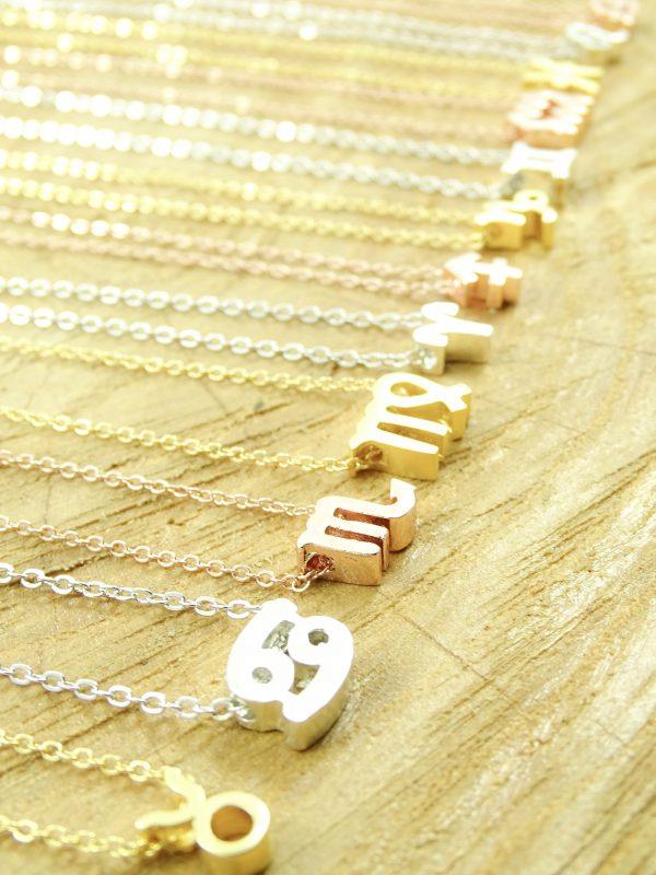 Ketting sterrenbeeld maagd zilver, goud of roségoud-9074
