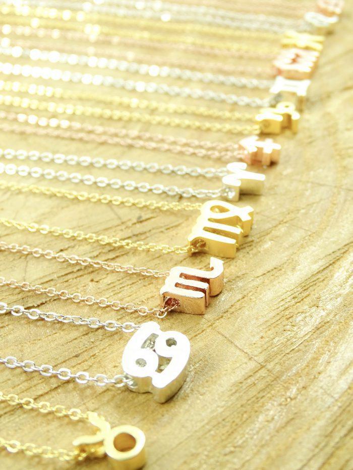 Ketting sterrenbeeld stier zilver, goud of roségoud-9078