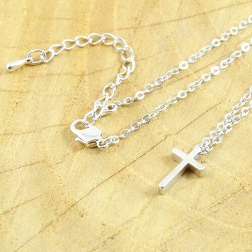 Ketting kruisje zilver-9133