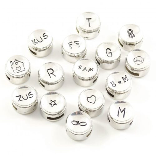Slider met initiaal, symbool of maximaal 3 letters-0