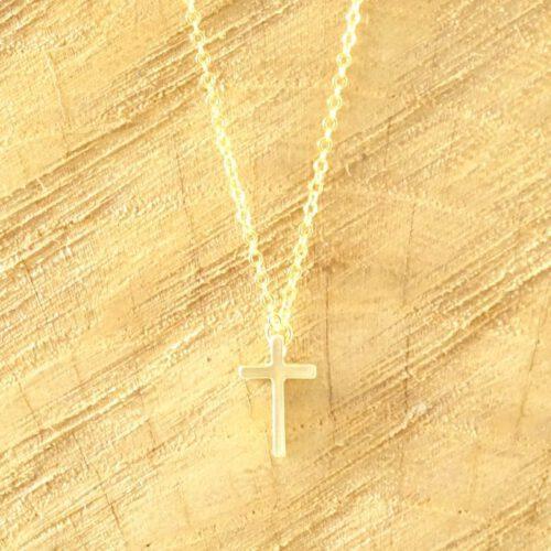 Ketting met kruisje goud