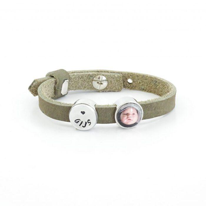 Leren armband met foto -9552