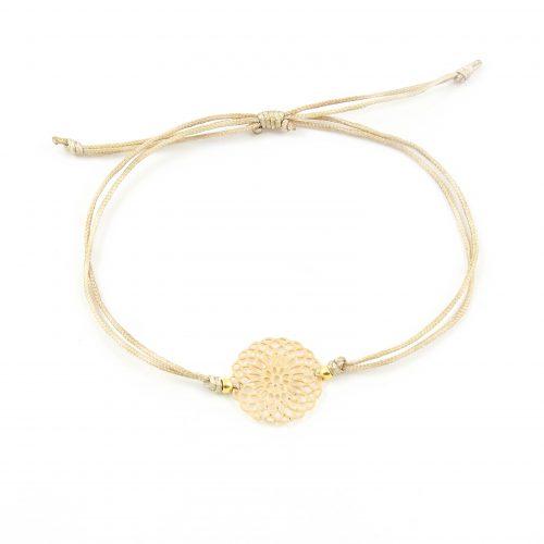 Mandala armbandje goud