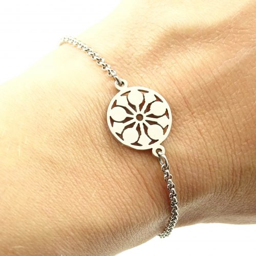 Mandala armbandje stainless steel-9413