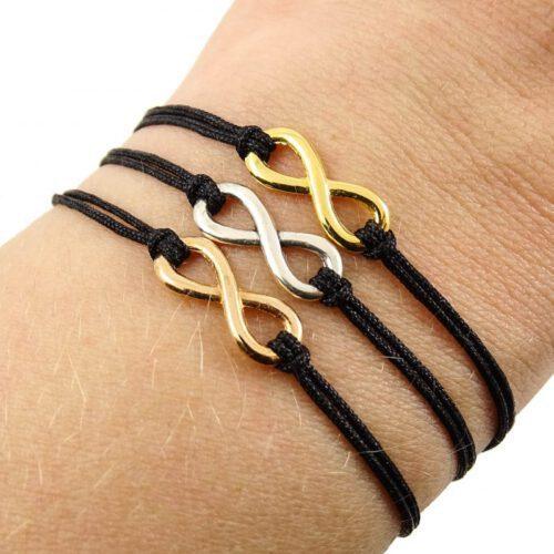 Infinity armbandje zilver goud rose