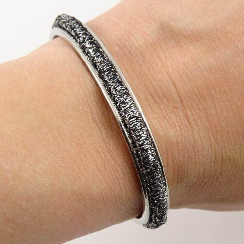 Armband voor haar elastiekje - zilver, goud, of roségoud stainless steel-9471