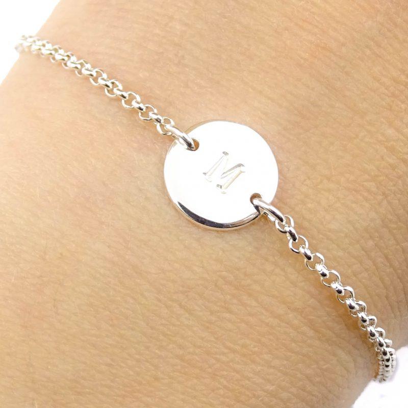 Initiaal armbandje 925 zilver-0