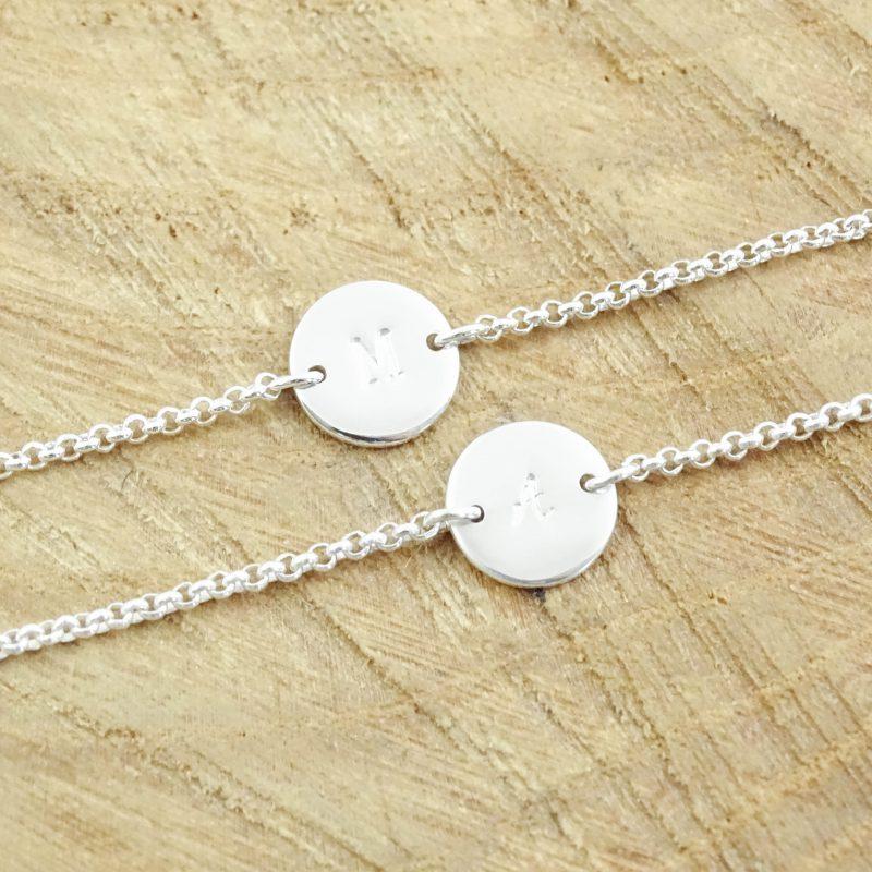 Initiaal armbandje 925 zilver-9559