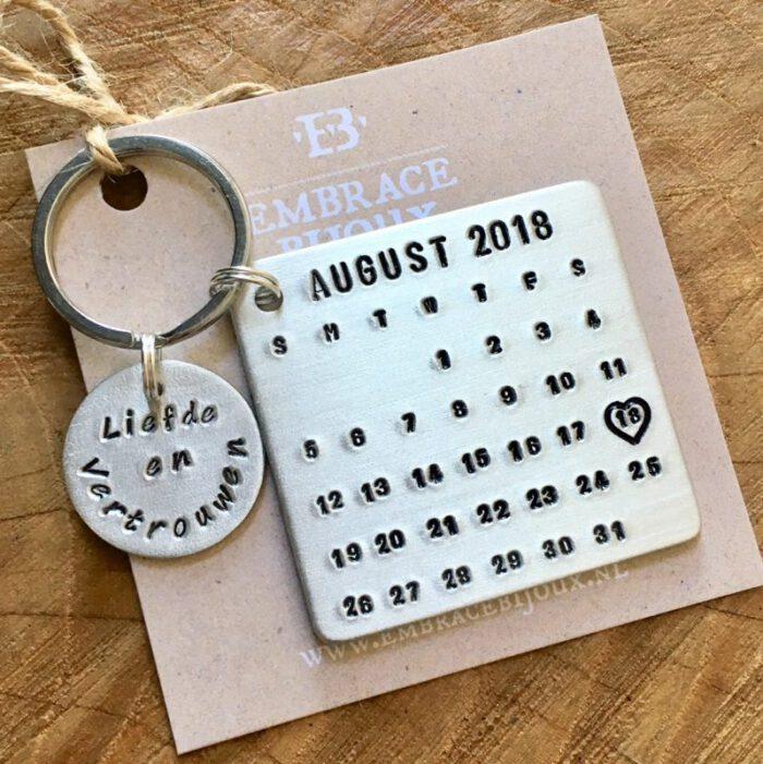 Kalender sleutelhanger-9600