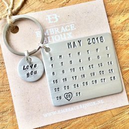 Kalender sleutelhanger met datum