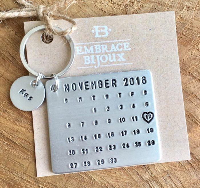 Kalender sleutelhanger-9601