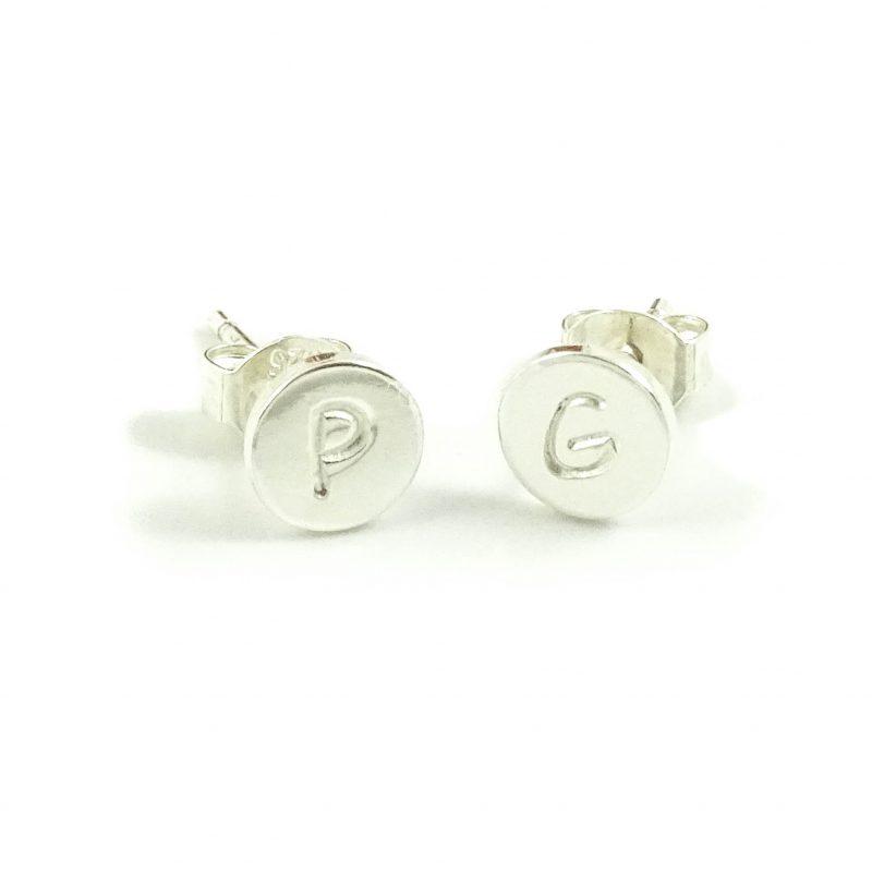 Oorbellen met letter 925 zilver-0