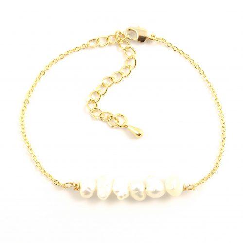 Parel armbandje goud-9648